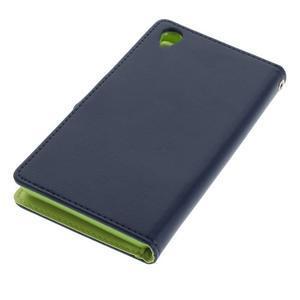 Luxury PU kožené pouzdro na mobil Sony Xperia Z3 - tmavěmodré - 3
