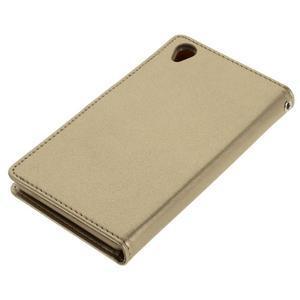 Luxury PU kožené pouzdro na mobil Sony Xperia Z3 - champagne - 3