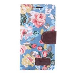 Květinové pouzdro na mobil Sony Xperia Z3 - modré - 3