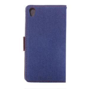 Jeans knížkové pouzdro na mobil Sony Xperia Z3 - tmavěmodré - 3