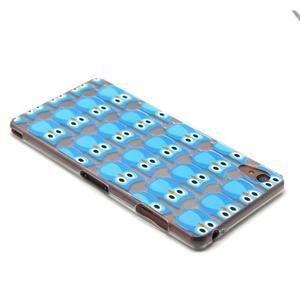 Gelový obal na mobil Sony Xperia Z3 - modré sovičky - 3