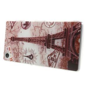 Ultratenký gelový obal na mobil Sony Xperia Z3 - Eiffelova věž - 3