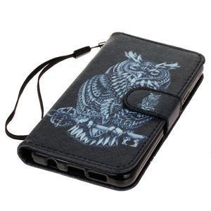 Leat peněženkové pouzdro na Samsung Galaxy A3 (2016) - tribal sova - 3