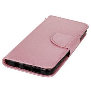 Hoor PU kožené pouzdro na mobil Samsung Galaxy A3 (2016) - růžové - 3
