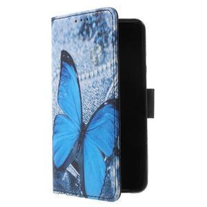 Fun peněženkové pouzdro na Samsung Galaxy A3 (2016) - modrý motýl - 3