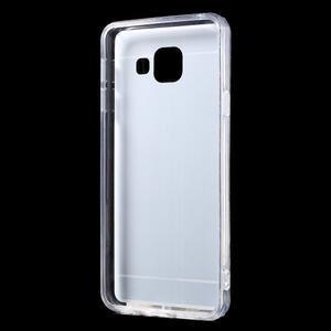 Zrcadlový gelový kryt na Samsung Galaxy A3 (2016) - stříbrný - 3