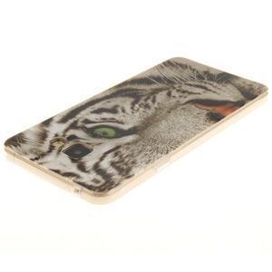 Silk gelový kryt na mobil Samsung Galaxy A3 (2016) - bílý tygr - 3