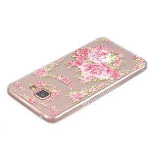 Slim průhledný gelový obal na Samsung Galaxy A3 (2016) - růže - 3