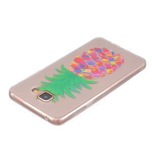 Slim průhledný gelový obal na Samsung Galaxy A3 (2016) - ananas - 3