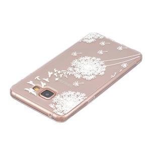 Slim průhledný gelový obal na Samsung Galaxy A3 (2016) - pampeliška - 3