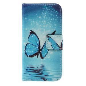 Standy peněženkové pouzdro na Samsung Galaxy A3 (2016) - motýl - 3