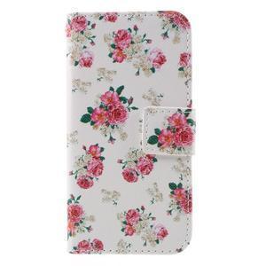 Standy peněženkové pouzdro na Samsung Galaxy A3 (2016) - květiny - 3