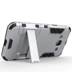 Outdoor odolný obal na Samsung Galaxy J3 (2016)- stříbrné - 3