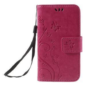 Butterfly pouzdro na mobil Samsung Galaxy Trend 2 Lite - rose - 3