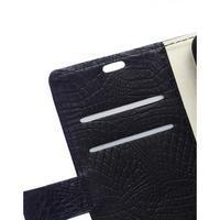 Croco peněženkové pouzdro na Samsung Galaxy Trend 2 Lite - černé - 3/7