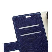 Croco peněženkové pouzdro na Samsung Galaxy Trend 2 Lite - tmavěmodré - 3/7