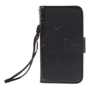 Butterfly pouzdro na mobil Samsung Galaxy Trend 2 Lite - černé - 3