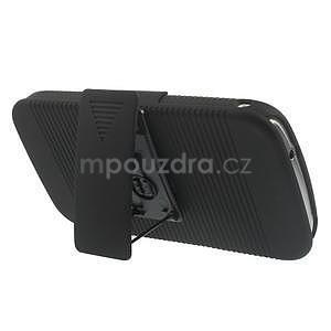 Odolný pogumovaný kryt se stojánkem na Samsung Galaxy K Zoom - černý - 3