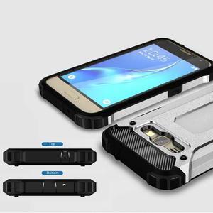 Armory odolný obal na mobil Samsung Galaxy J1 (2016) - stříbrný - 3