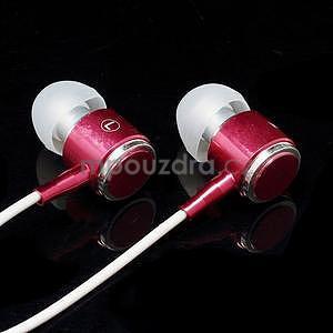 Pecková sluchátka s hands free, červená - 3