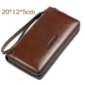 Weix peněženka z pravé kůže s přihrádkami - hnědá - 3