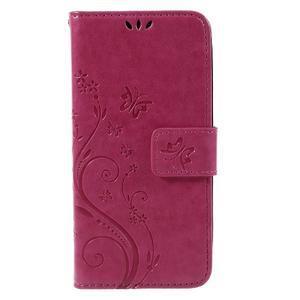 Butterfly koženkové pouzdro na Microsoft Lumia 550 - rose - 3