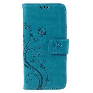Butterfly koženkové pouzdro na Microsoft Lumia 550 - modré - 3