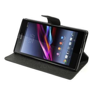 Diary PU kožené pouzdro na Sony Z Ultra - černé - 3
