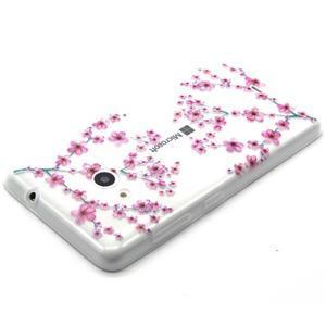 Gelový obal na mobil Microsoft Lumia 535 - květy švestky - 3