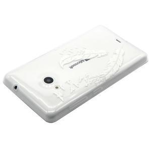 Gelový obal na mobil Microsoft Lumia 535 - ptačí pírka - 3