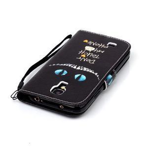 Peněženkové pouzdro na Samsung Galaxy S4 Mini - do not touch - 3