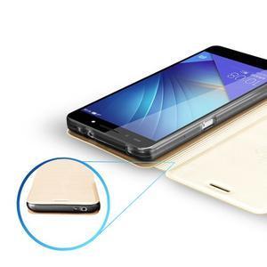 Elegantní PU kožené pouzdro na mobil Huawei Honor 7 - růžové - 3