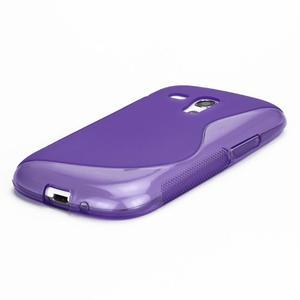 Fialové gelové pouzdro pro Samsung Galaxy S3 mini /i8190 - 3