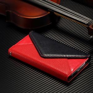 Breck peněženkové pouzdro na Samsung Galaxy S6 - červené/černé - 3