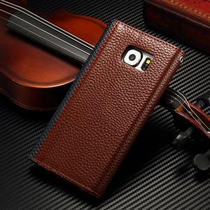 Breck peněženkové pouzdro na Samsung Galaxy S6 - hnědé/černé - 3