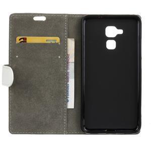 Peněženkové PU kožené pouzdro na mobil Honor 7 Lite - bílé - 3