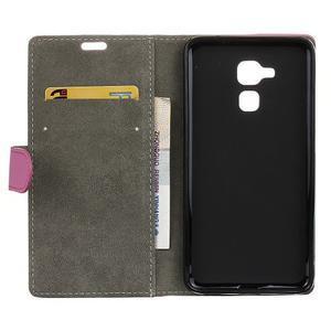 Peněženkové PU kožené pouzdro na mobil Honor 7 Lite - rose - 3