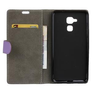 Peněženkové PU kožené pouzdro na mobil Honor 7 Lite - fialové - 3