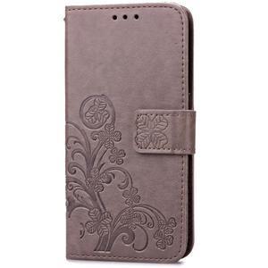 Buttefly PU kožené pouzdro na mobil Honor 7 Lite  - šedé - 3