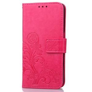 Buttefly PU kožené pouzdro na mobil Honor 7 Lite  - rose - 3