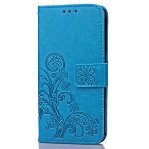 Buttefly PU kožené pouzdro na mobil Honor 7 Lite  - modré - 3