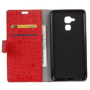 Cartoo pouzdro na mobil Honor 7 Lite - červené - 3
