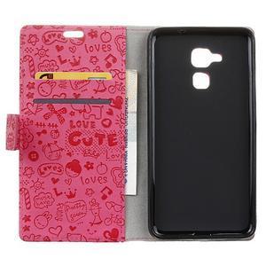 Cartoo pouzdro na mobil Honor 7 Lite - rose - 3