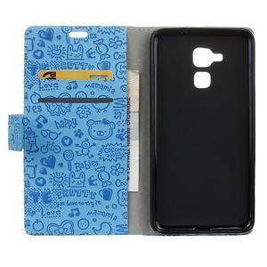 Cartoo pouzdro na mobil Honor 7 Lite - modré - 3
