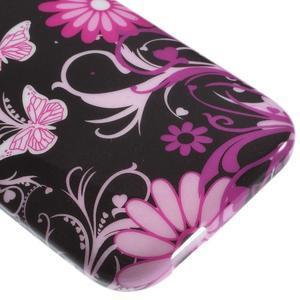 Gelový kryt na HTC One mini 2 - květiny a motýlci - 3