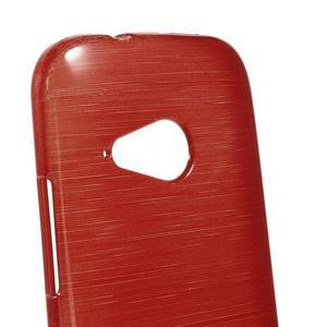 Broušený gelový obal na HTC One mini 2 - červený - 3