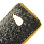 Plastový kryt se zlatým lemem na HTC One mini 2 - černý - 3/5