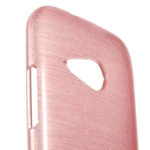 Broušený gelový obal na HTC One mini 2 - růžový - 3