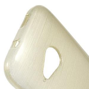 Broušený gelový obal na HTC One mini 2 - champagne - 3
