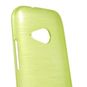 Broušený gelový obal na HTC One mini 2 - zelený - 3